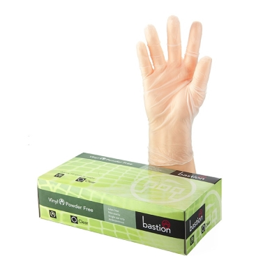 Gloves Clear Vinyl Powder Free - Med (Pkt)