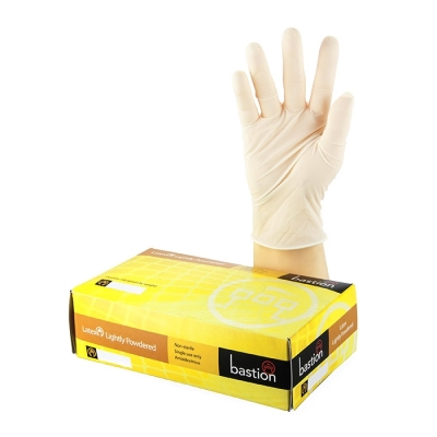 Gloves Clear Latex Low Powder - Large (Pkt) 100