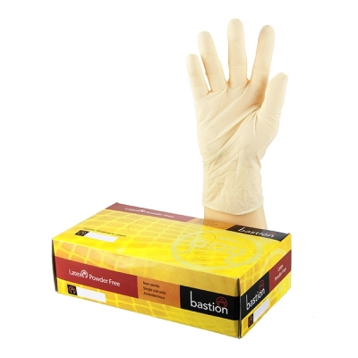 Gloves Clear Latex Powder Free - XLarge (Pkt) 100