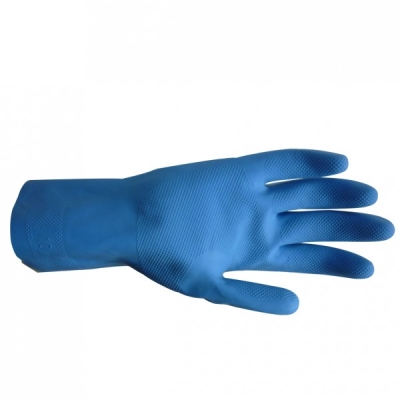 #7 Gold Silverlined Gloves Blue - Small