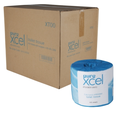 Pure Xcel XT400 Embossed Toilet Tissue 2ply