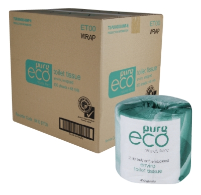 Pure Eco Embossed Toilet Tissue 2ply