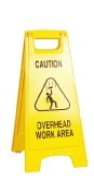 Floor Safety Sign - Caution Overhead Work Area