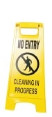 Floor Safety Sign - No Entry Cleaning In Progress