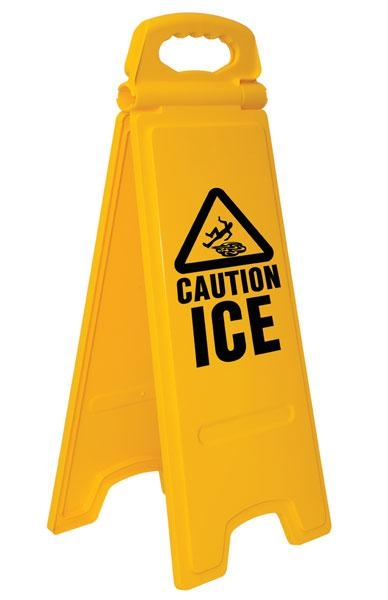 Floor Safety Sign - Caution ' Ice'