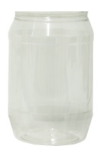 1ltr Clear Round Jar Only