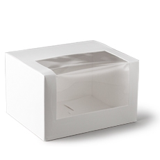 Window Carton Patisserie Range Long 10 Inch White 260x110x80