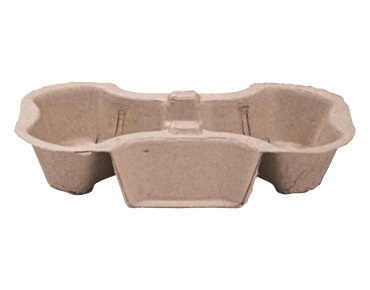 2-Cup Moulded Carry Tray (Pkt) 50