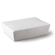 Small White Lunch Box 150 x 100 x 45mm