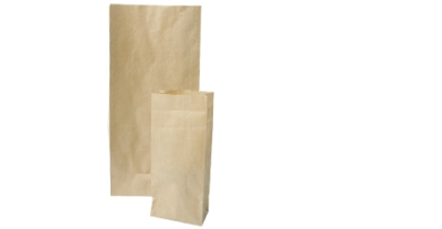Light Duty Block Bottom Brown Bags #1 90 x 205 x 50