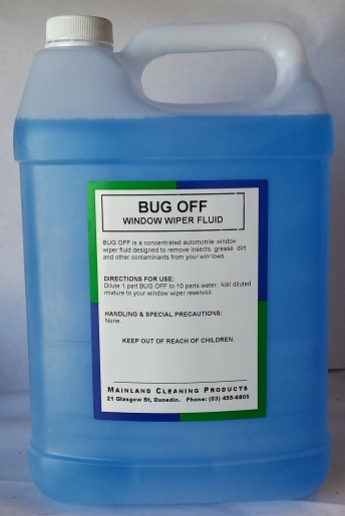 Bug Off Window Wiper Fluid Concentrate 5ltr
